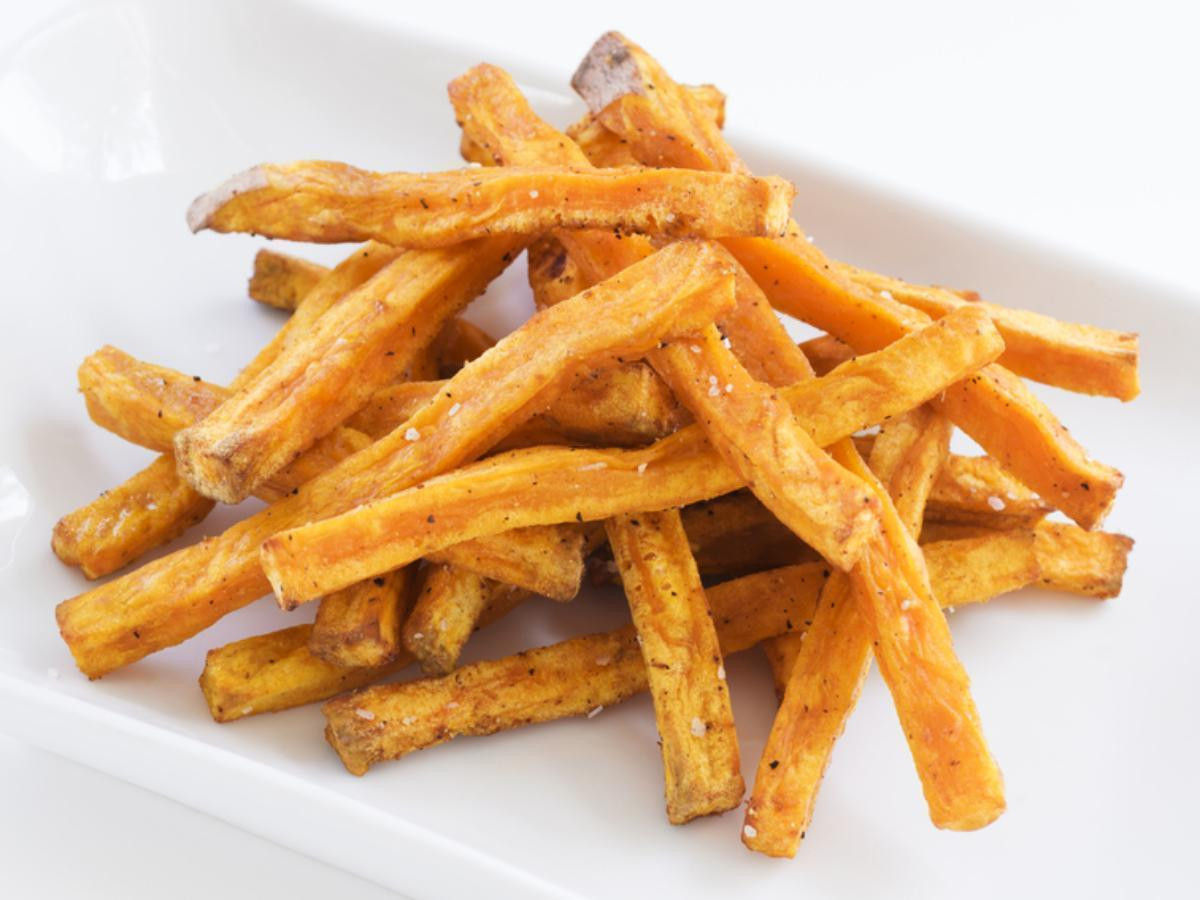 Sweet Potato Fries Calories  Oven Baked Sweet Potato Fries Recipe and Nutrition Eat