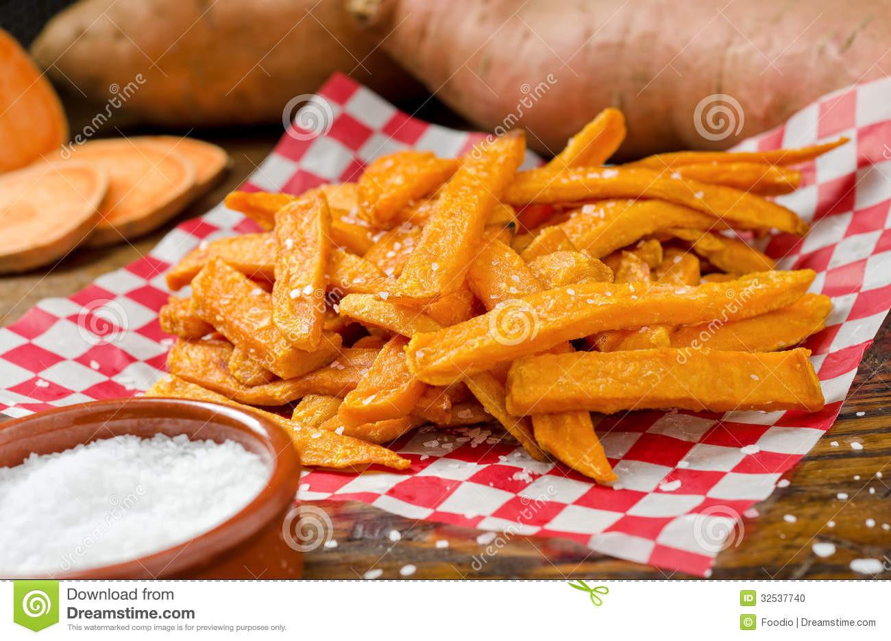 Sweet Potato Fries Deep Fried  Sweet Potato Fries stock photo Image of deep closeup