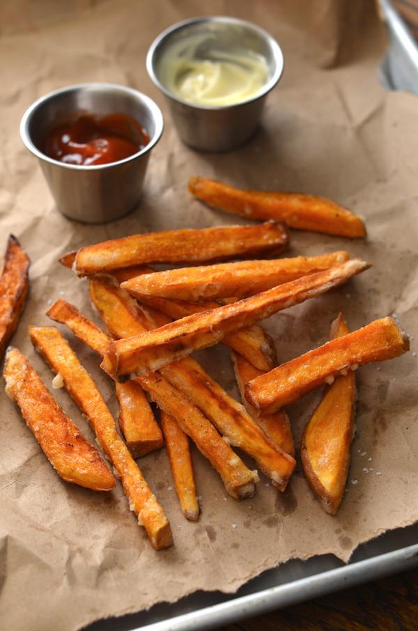 Sweet Potato Fries Deep Fried  Fried Crispy Sweet Potato Fries Recipe HungryHuy