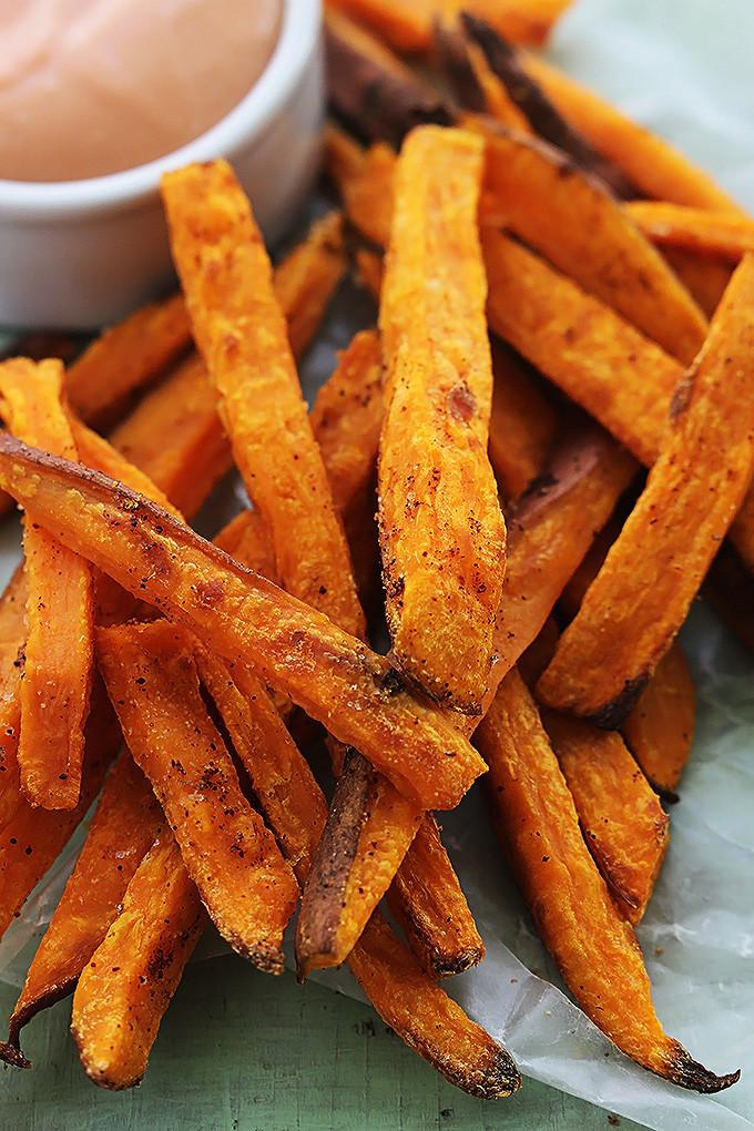 Sweet Potato Fries Deep Fried  Baked Sweet Potato Fries