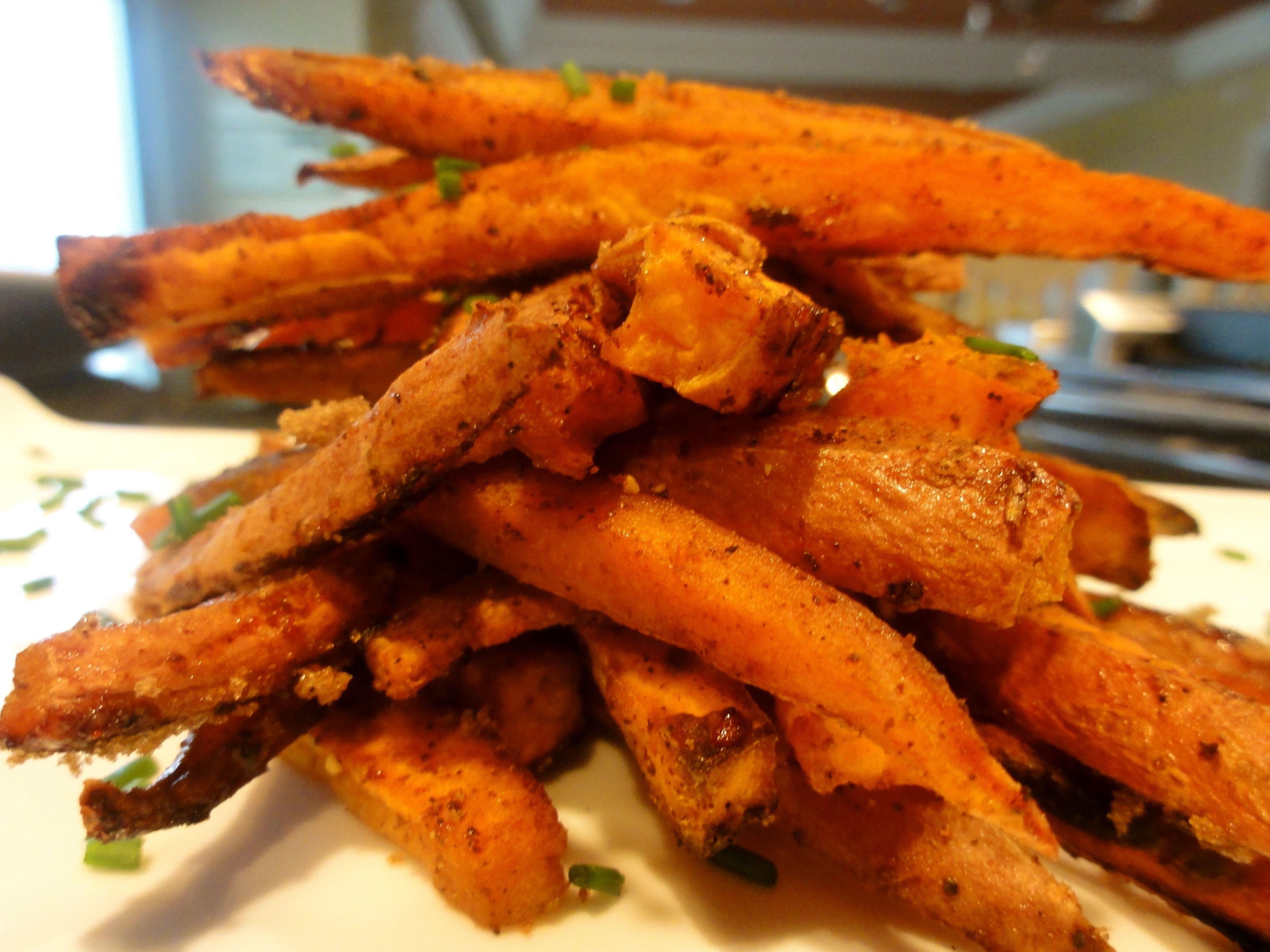 Sweet Potato Fries Deep Fried  Baked Sweet & Spicy Sweet Potato Fries – ChefPriyanka