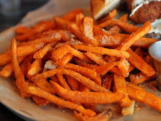 Sweet Potato Fries Deep Fried  Deep Fried Chicago Rockit Burger Bar