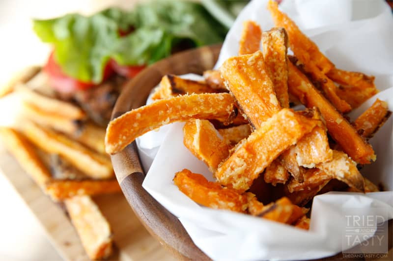 Sweet Potato Fries In Oven  Oven Baked Crispy Sweet Potato Fries Tried and Tasty