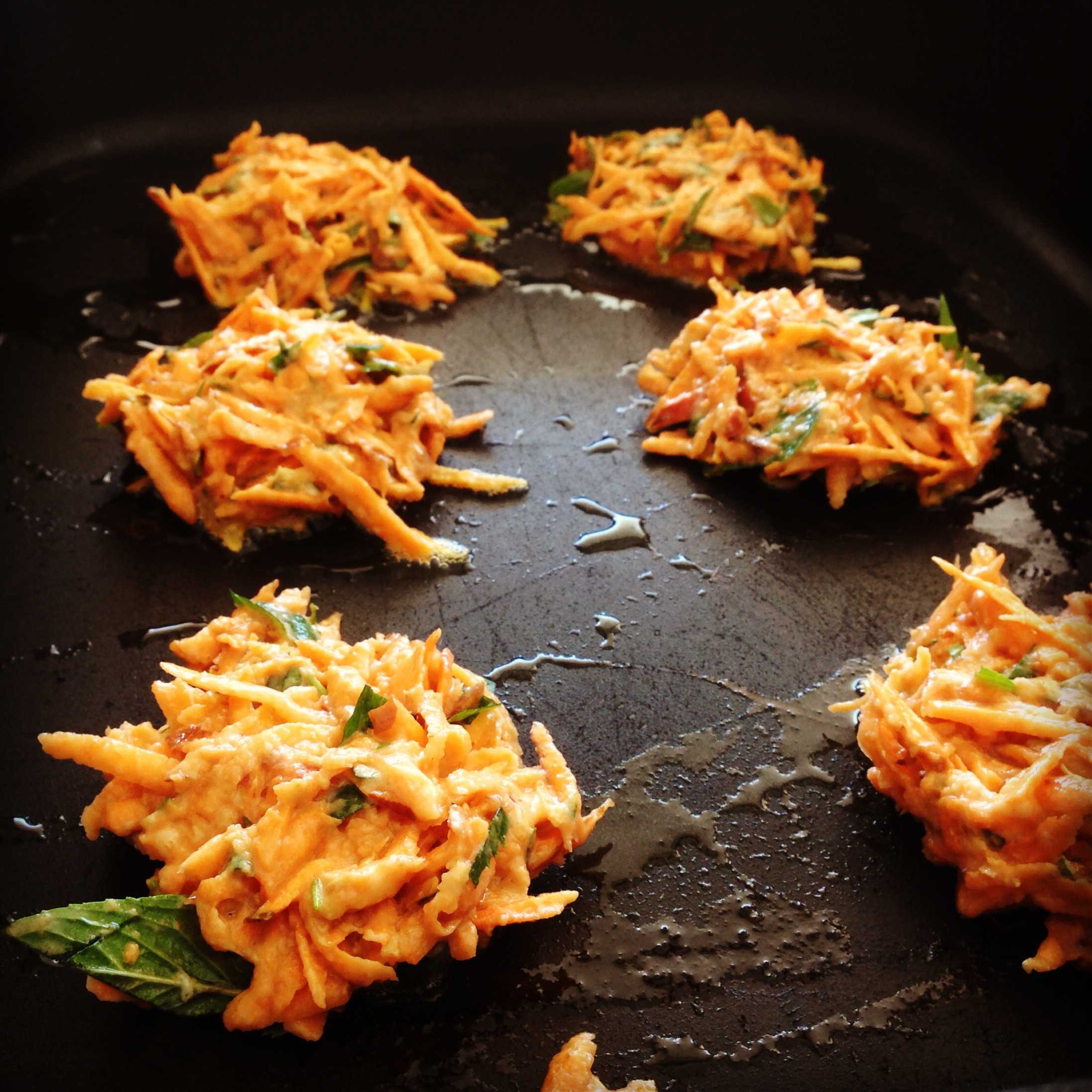 Sweet Potato Fritters  sweet potato fritters w' avocado salsa