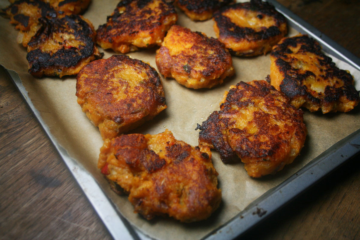 Sweet Potato Fritters  Es Girl Cooks Healthy Low Cholesterol