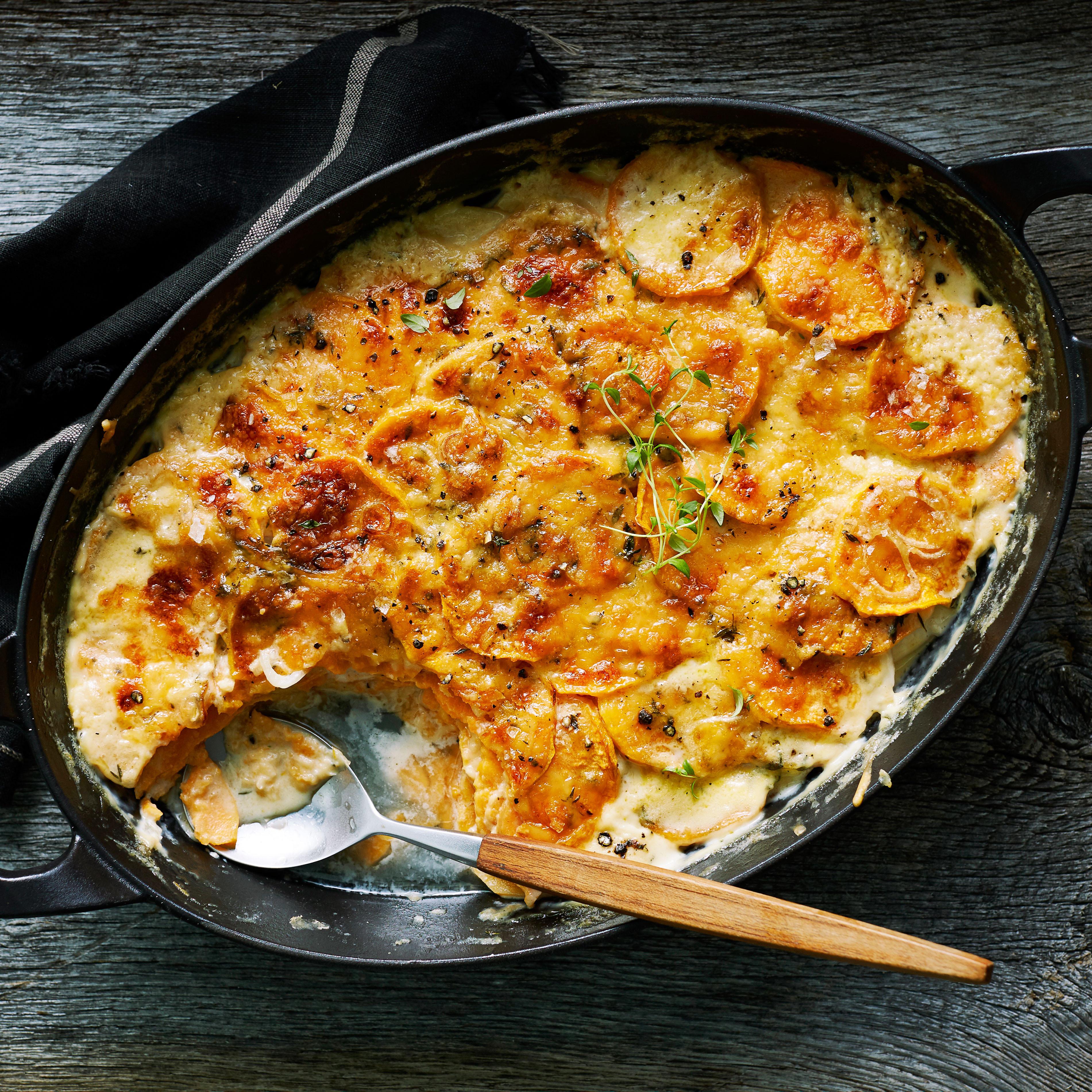 Sweet Potato Gratin  Sweet Potato and Gouda Gratin Recipe