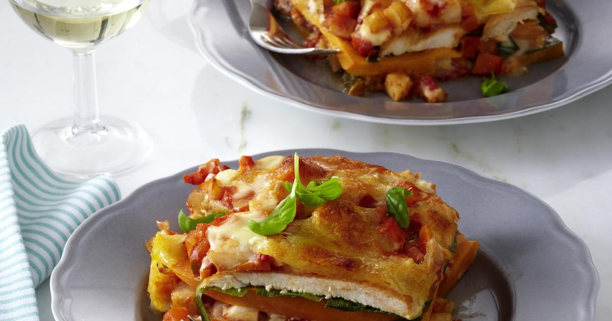 Sweet Potato Lasagna  Chicken and Sweet Potato Lasagna