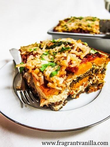 Sweet Potato Lasagna  Vegan Sweet Potato Lasagna