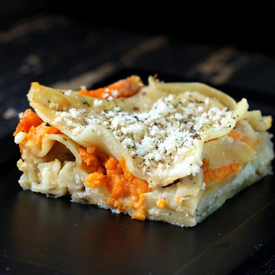 Sweet Potato Lasagna  Vegan Lasagna Bechamel with Sweet Potato and Cauliflower