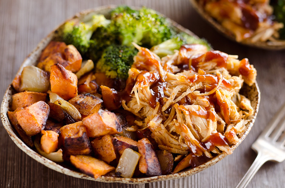 Sweet Potato Meals  BBQ Chicken & Roasted Sweet Potato Bowls Easy Meal Prep