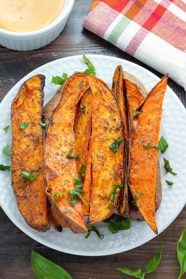 Sweet Potato Meals  Extra Crispy Sweet Potato Wedges Baker by Nature