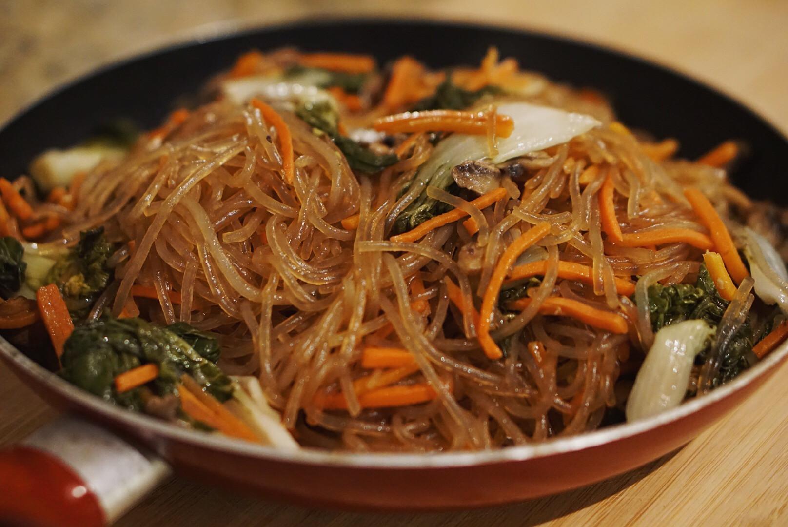 Sweet Potato Noodles  Japchae Sweet Potato Noodles w veggies I Hart