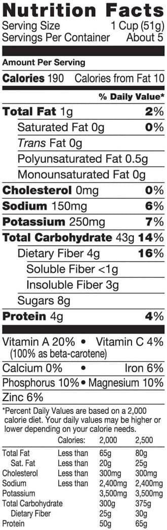 Sweet Potato Nutrition Information  how much fiber in sweet potatoes
