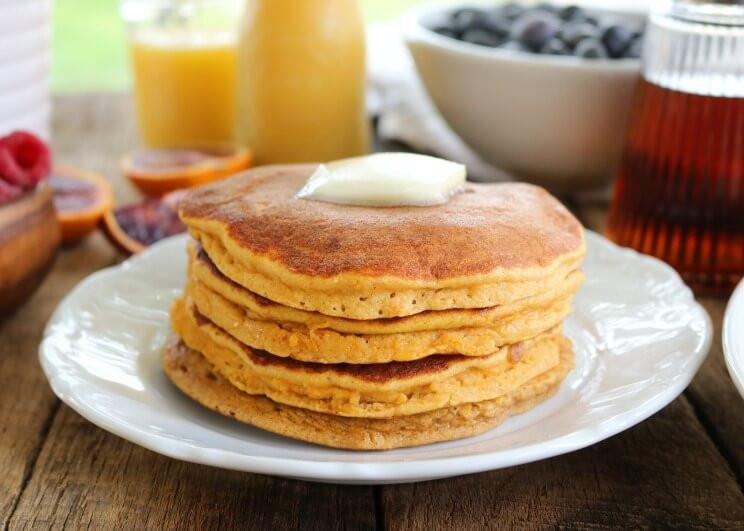 Sweet Potato Pancakes  Fluffy Thick Sweet Potato Pancakes