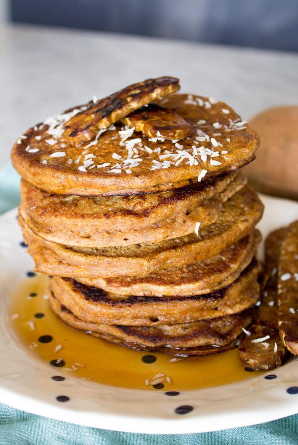 Sweet Potato Pancakes  egg substitute for potato pancakes