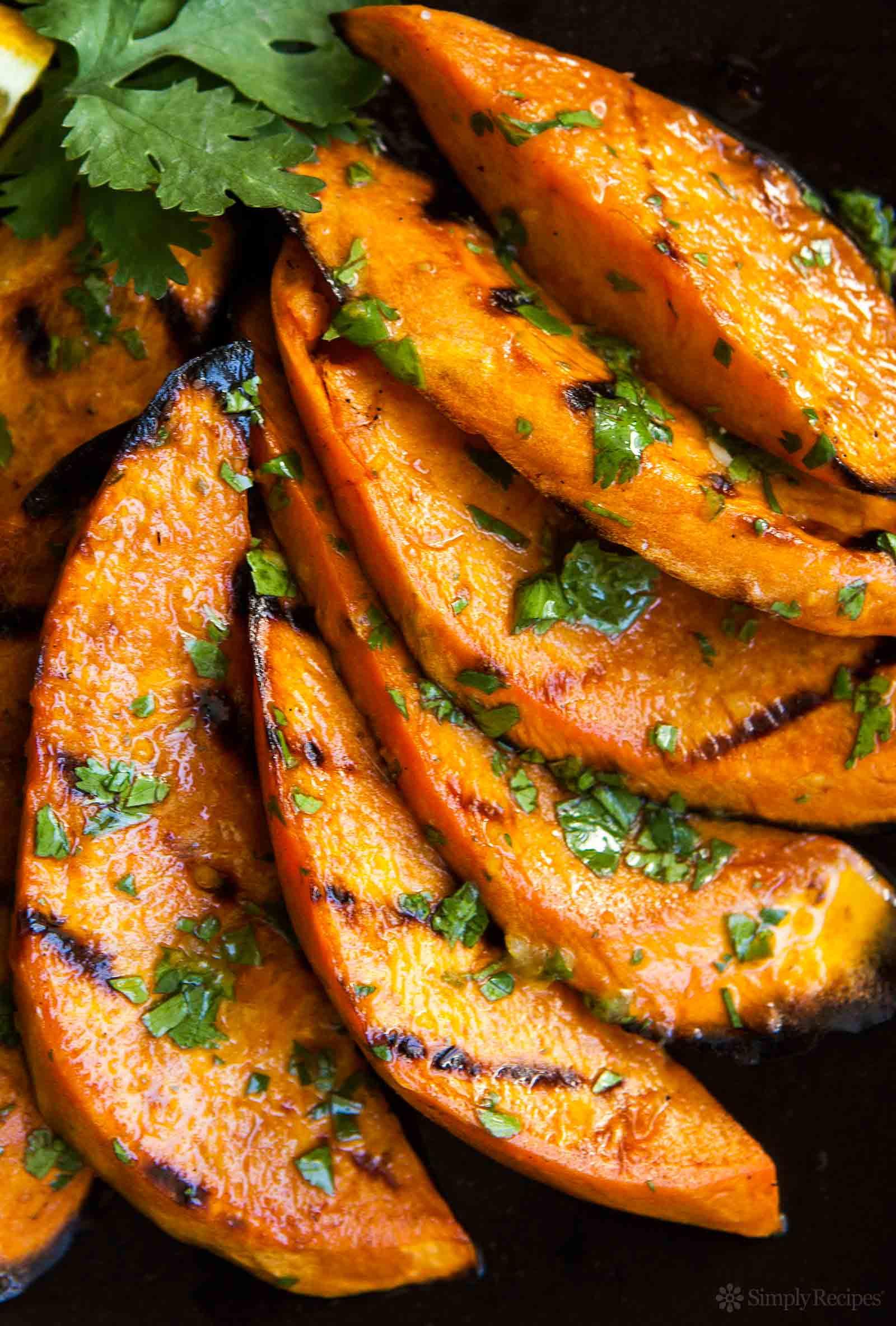 Sweet Potato Recipe  Grilled Sweet Potatoes Recipe