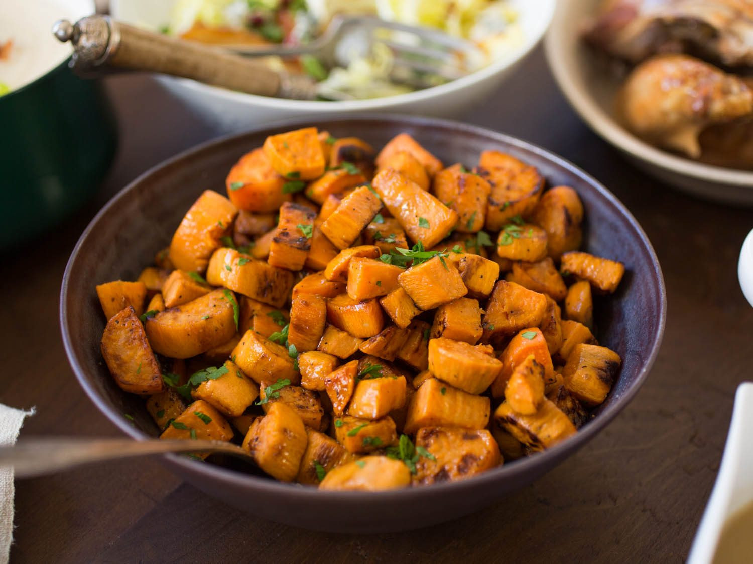 Sweet Potato Recipes For Thanksgiving  The Best Roasted Sweet Potatoes Recipe