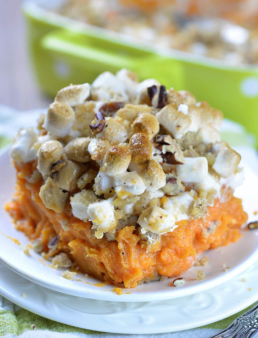 Sweet Potato Recipes For Thanksgiving  Sweet Potato Casserole Recipe OMG Chocolate Desserts