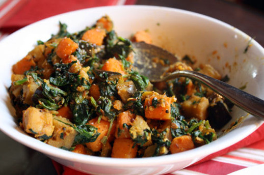 Sweet Potato Recipes Indian  Dinner Tonight Sweet Potato Eggplant and Spinach Madras