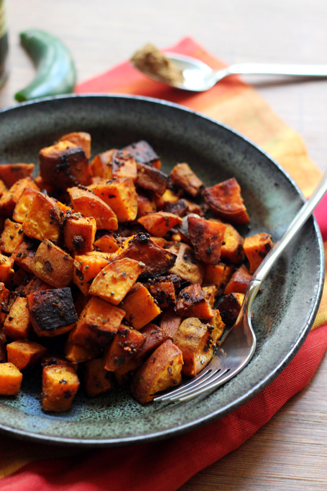 Sweet Potato Recipes Indian  North Indian Spiced Roasted Sweet Potatoes