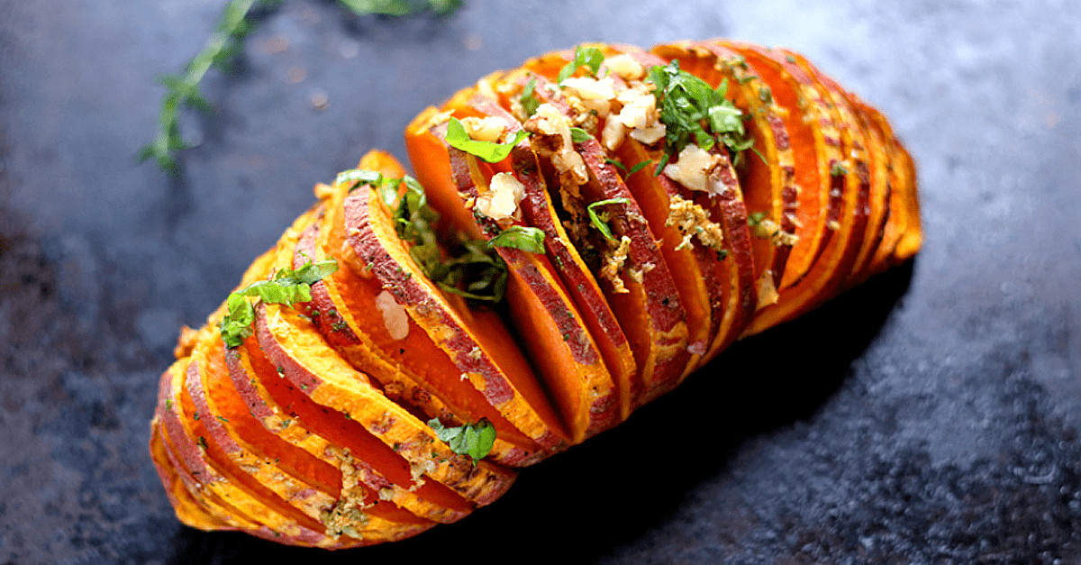 Sweet Potato Recipes Vegan  Easy Vegan Hasselback Sweet Potatoes Very Vegan Recipes