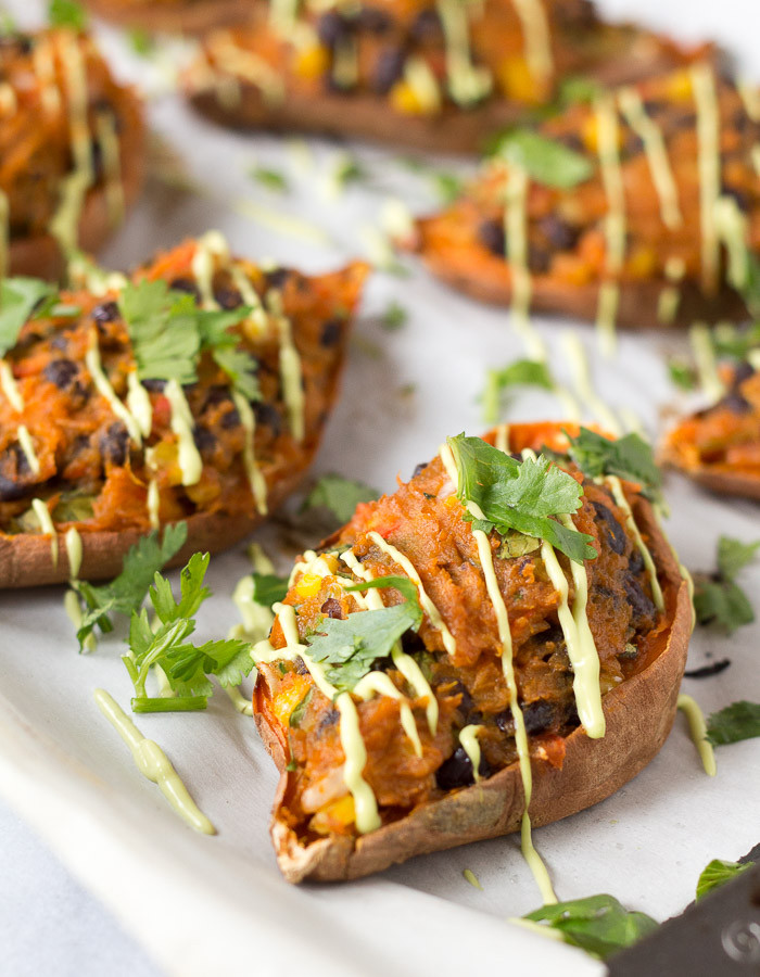 Sweet Potato Recipes Vegan  Mexican Stuffed Sweet Potato Skins – Vegan Gluten free