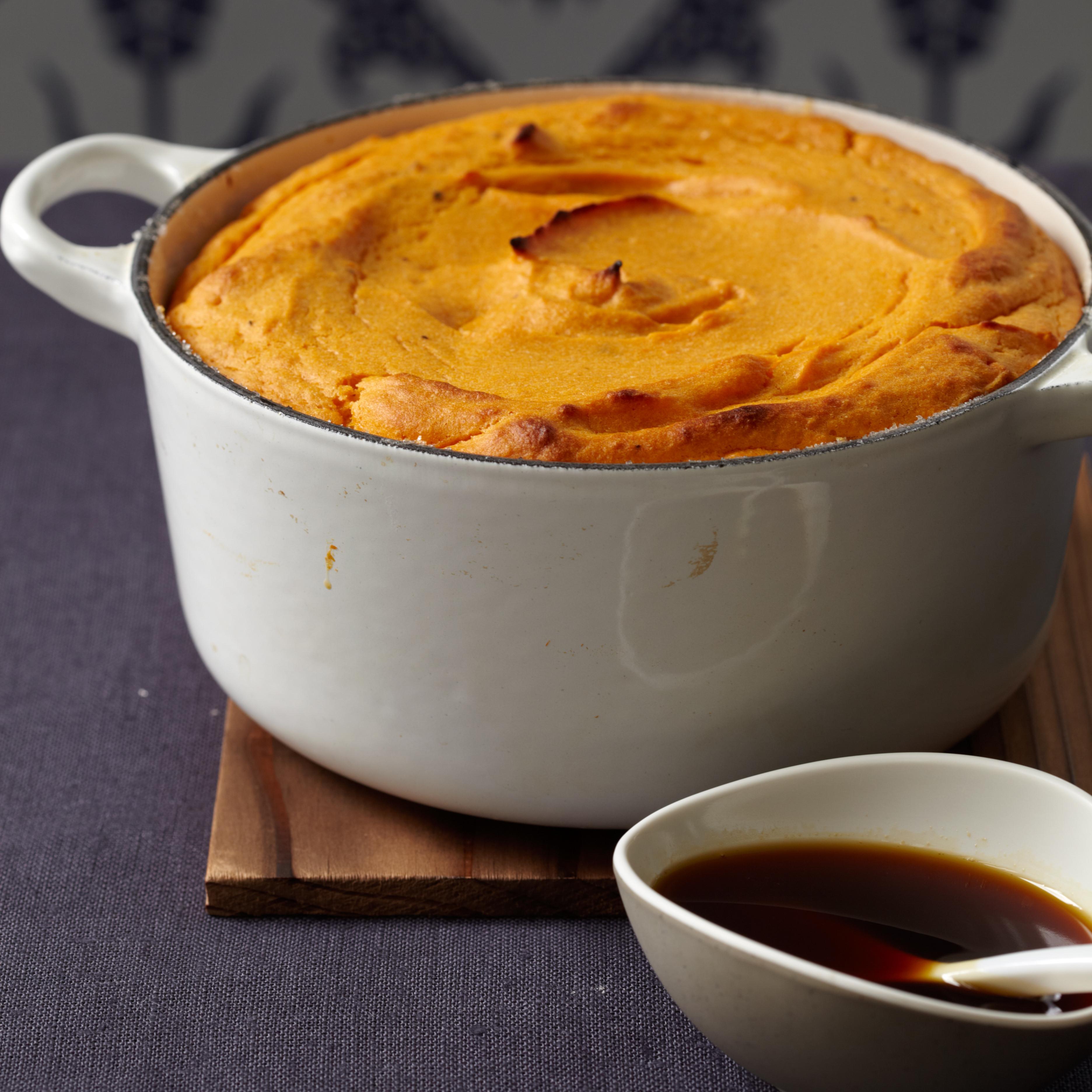 Sweet Potato Souffle Recipe  Sweet Potato Soufflé with Molasses Sauce Recipe Eric