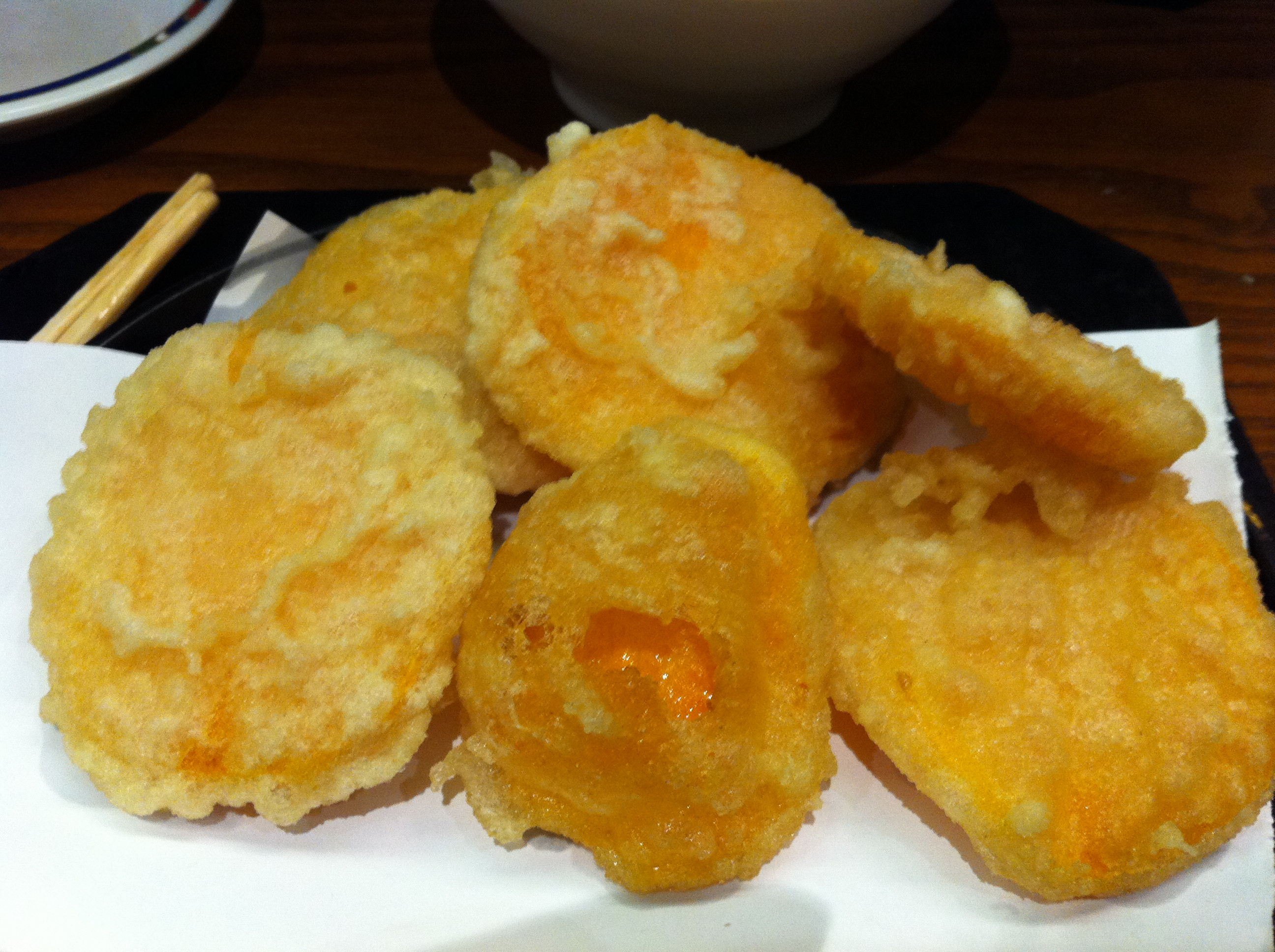 Sweet Potato Tempura  Ten Ten Tei review – The best bud Japanese in London