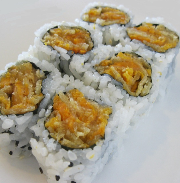 Sweet Potato Tempura  SWEET POTATO TEMPURA ROLL 30₪