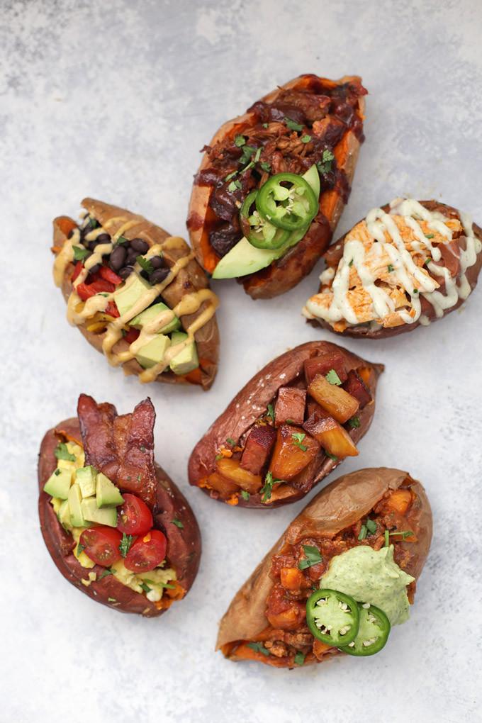 Sweet Potato Toppings  6 Amazing Ways to Stuff a Baked Sweet Potato • e Lovely Life