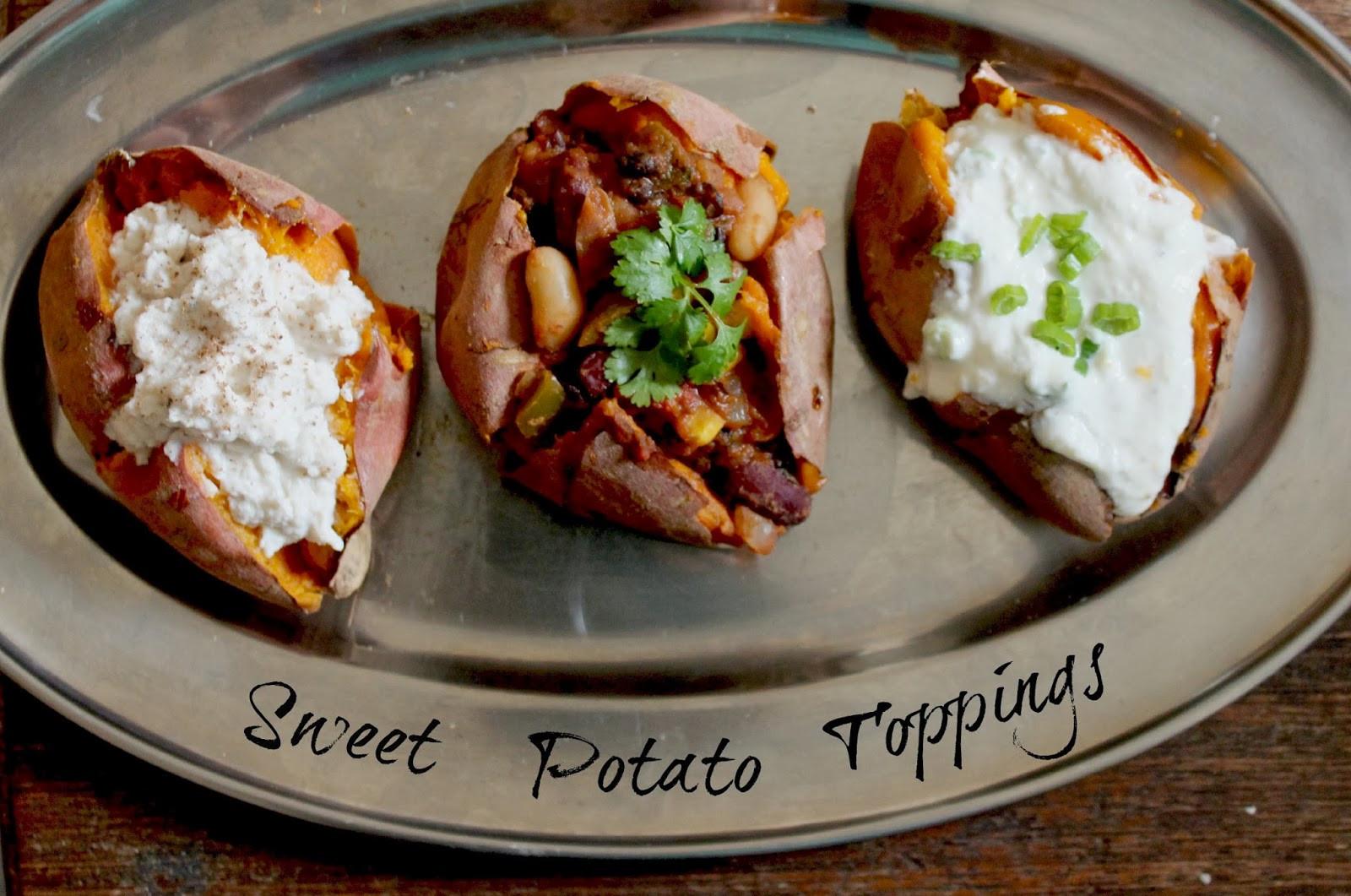 Sweet Potato Toppings  Baked Sweet Potato Toppings Honey Go Lightly