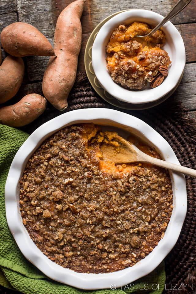 Sweet Potato Toppings  brown sugar pecan topping