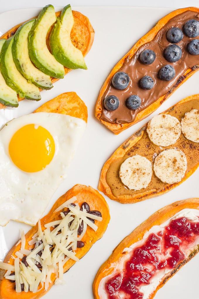 Sweet Potato Toppings  Sweet potato toast tips topping ideas Family Food on