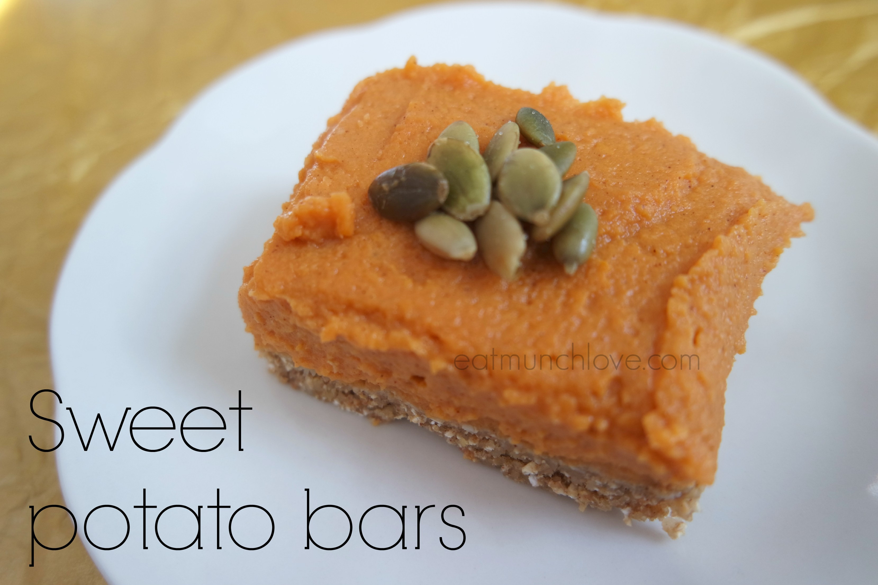 Sweet Potatoes Dessert Recipe  No bake sweet potato bars gluten free vegan refined