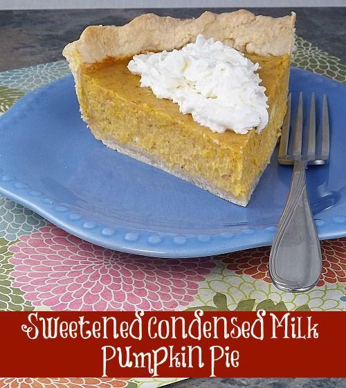 Sweetened Condensed Milk Pumpkin Pie  Best 25 Eagle brand milk ideas on Pinterest
