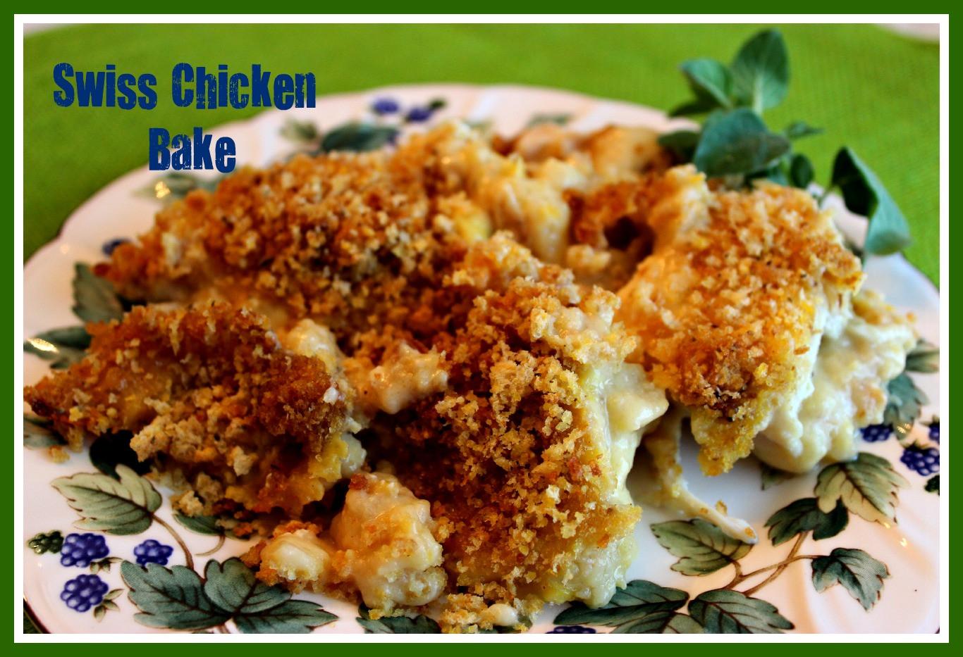 Swiss Chicken Casserole  Sweet Tea and Cornbread Swiss Chicken Bake