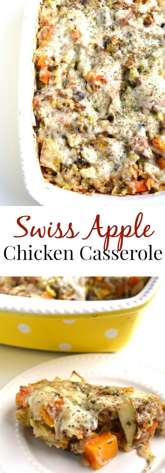 Swiss Chicken Casserole  creamy swiss chicken casserole
