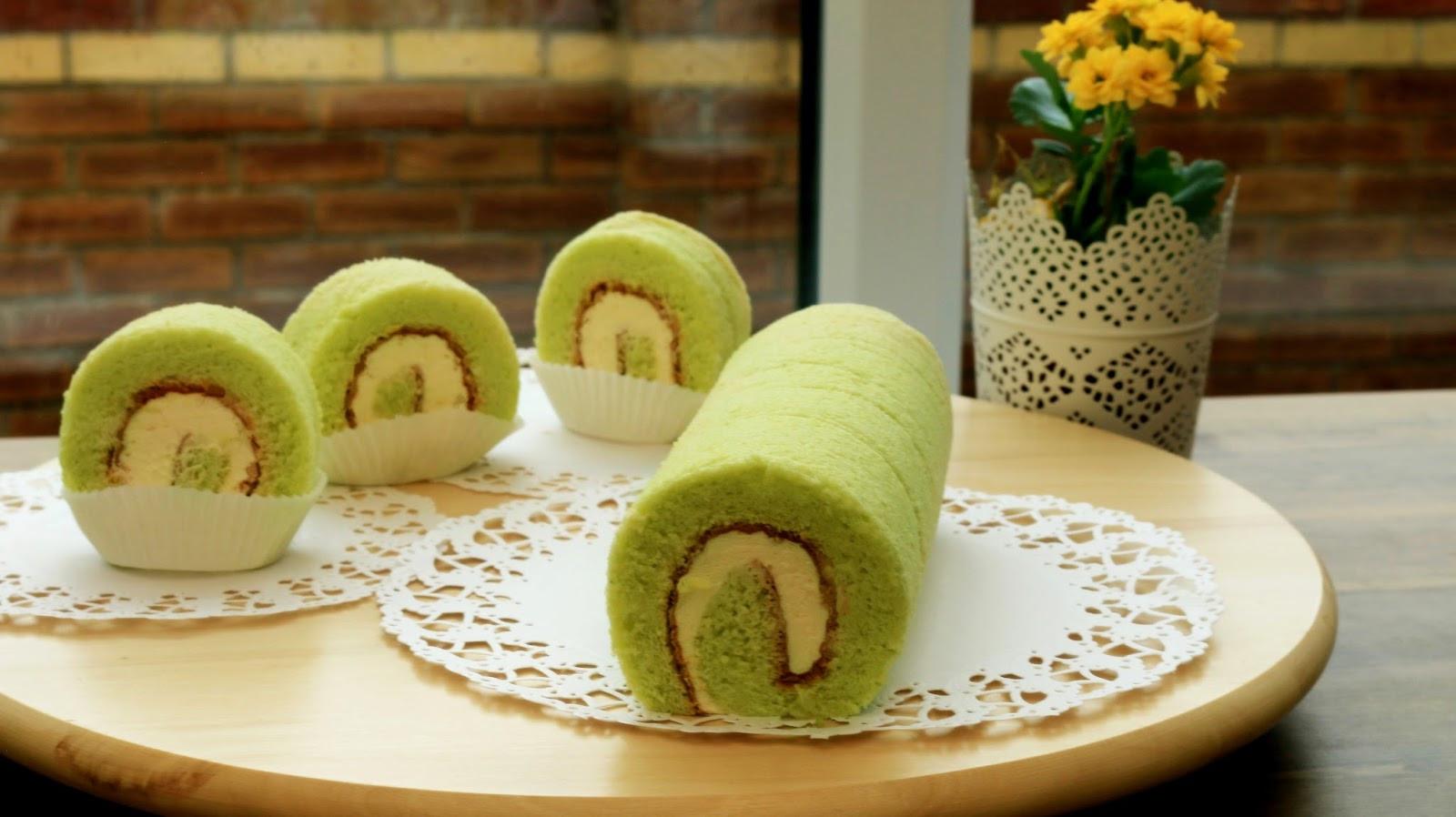 Swiss Roll Cake Recipe  Josephine s Recipes How To Make Pandan Swiss Roll Cake