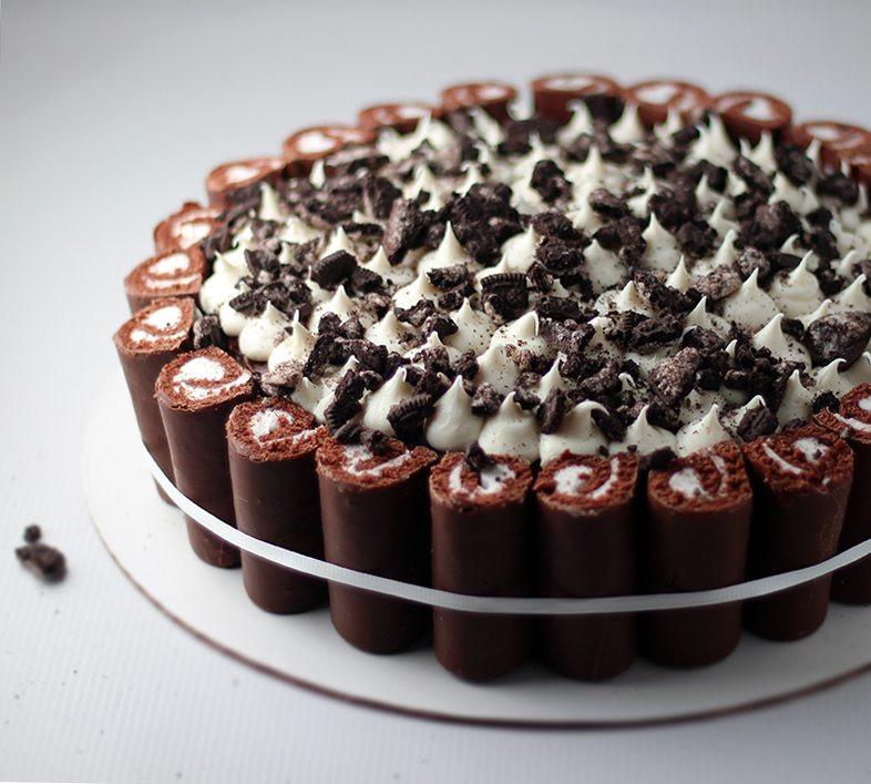 Swiss Roll Cake Recipe  Swiss Roll Cookies and Cream Cake Recipe Cutefetti