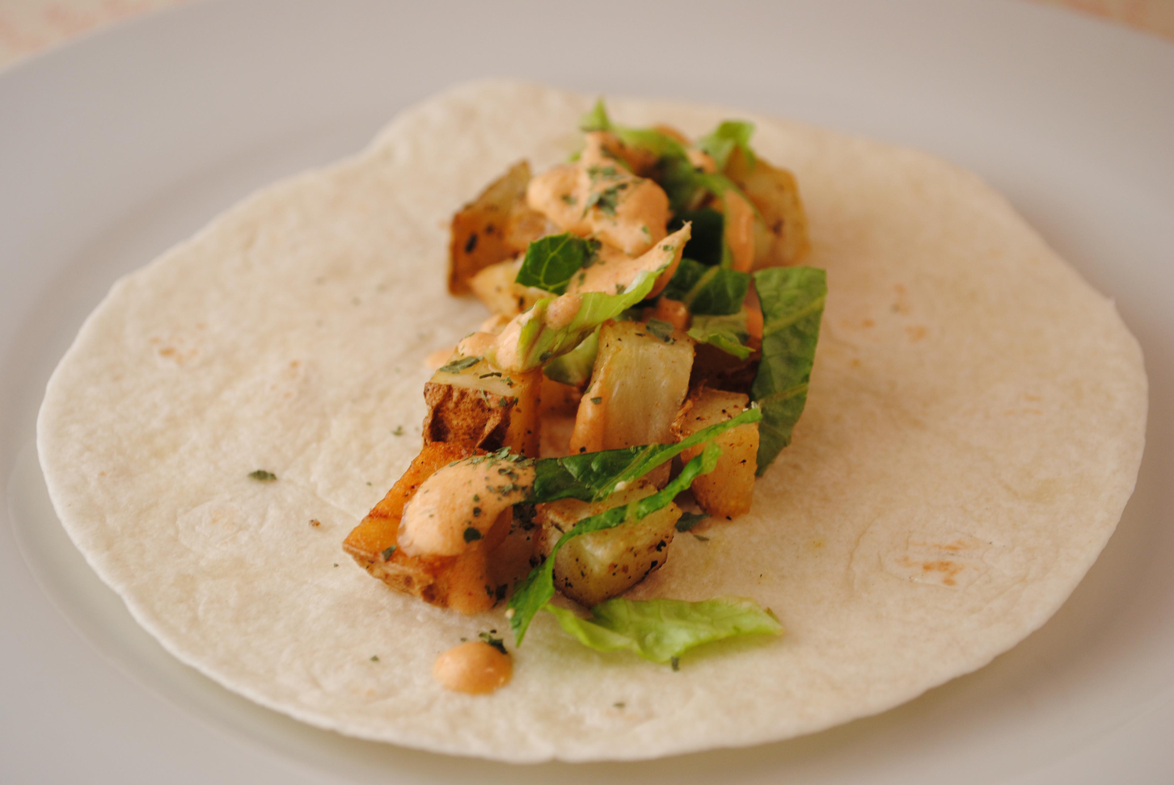 Taco Bell Spicy Potato Soft Taco  Crispy Potato Soft Tacos