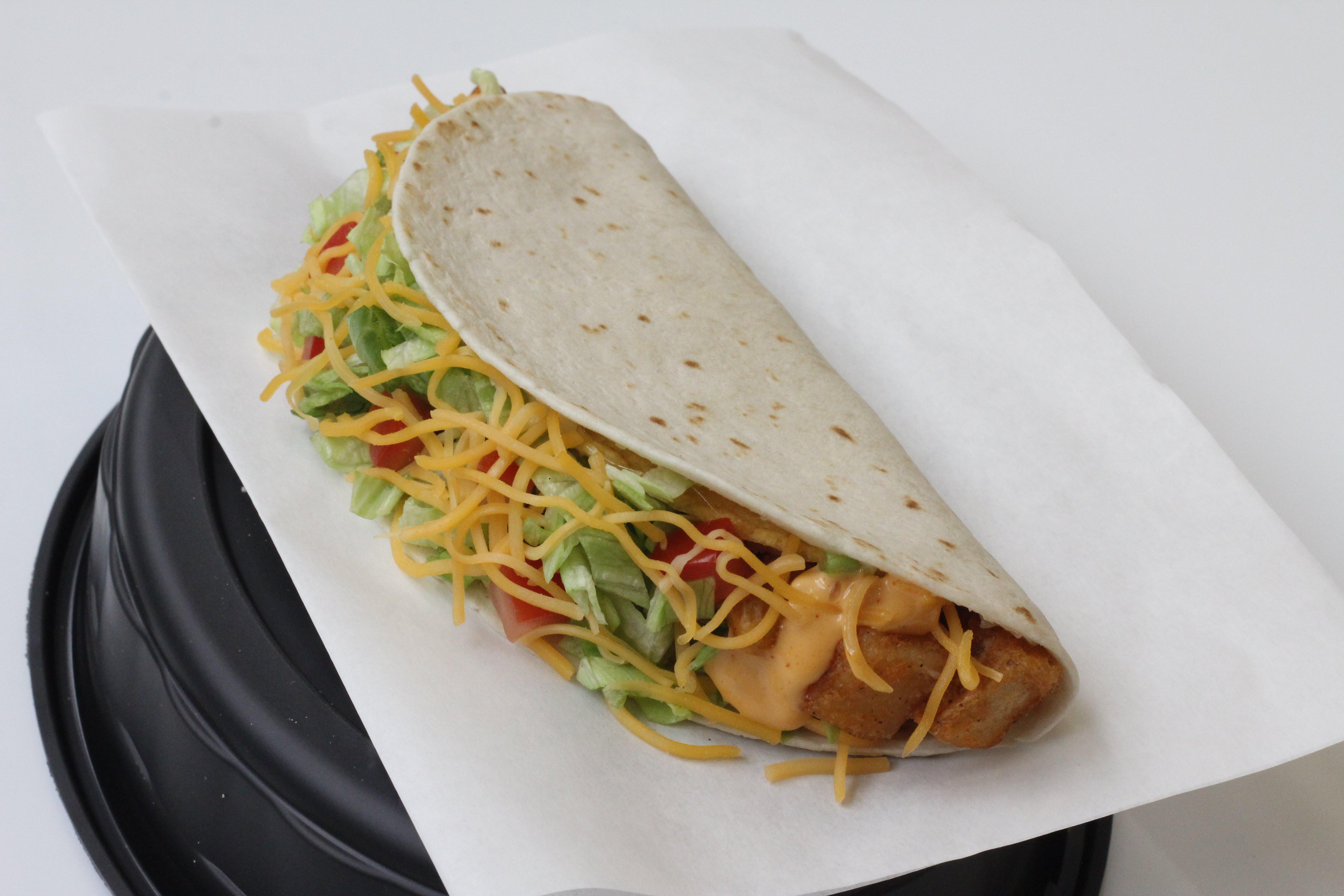Taco Bell Spicy Potato Soft Taco  Taco Bell Dollar Menu New Business Insider