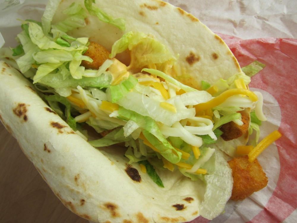 Taco Bell Spicy Potato Soft Taco  taco bell soft taco calories