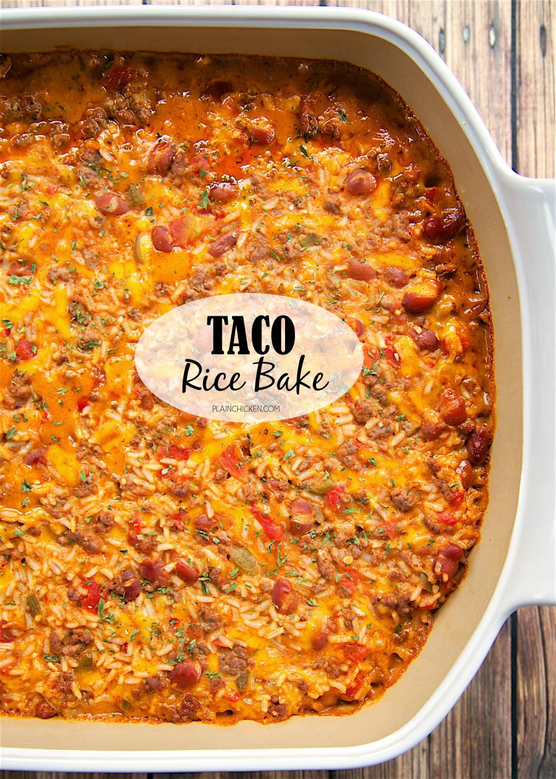 Taco Casserole With Rice  Taco Rice Bake