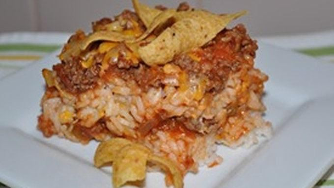 Taco Casserole With Rice  Taco Rice Casserole recipe from Tablespoon