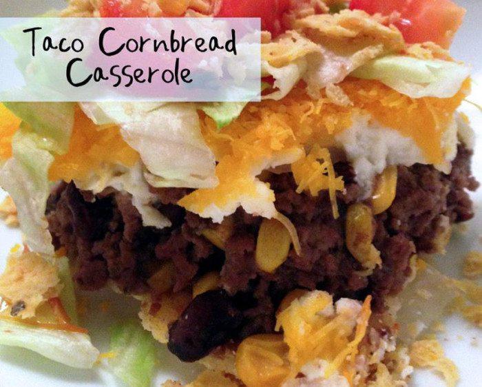 Taco Cornbread Casserole  Cornbread Taco Casserole