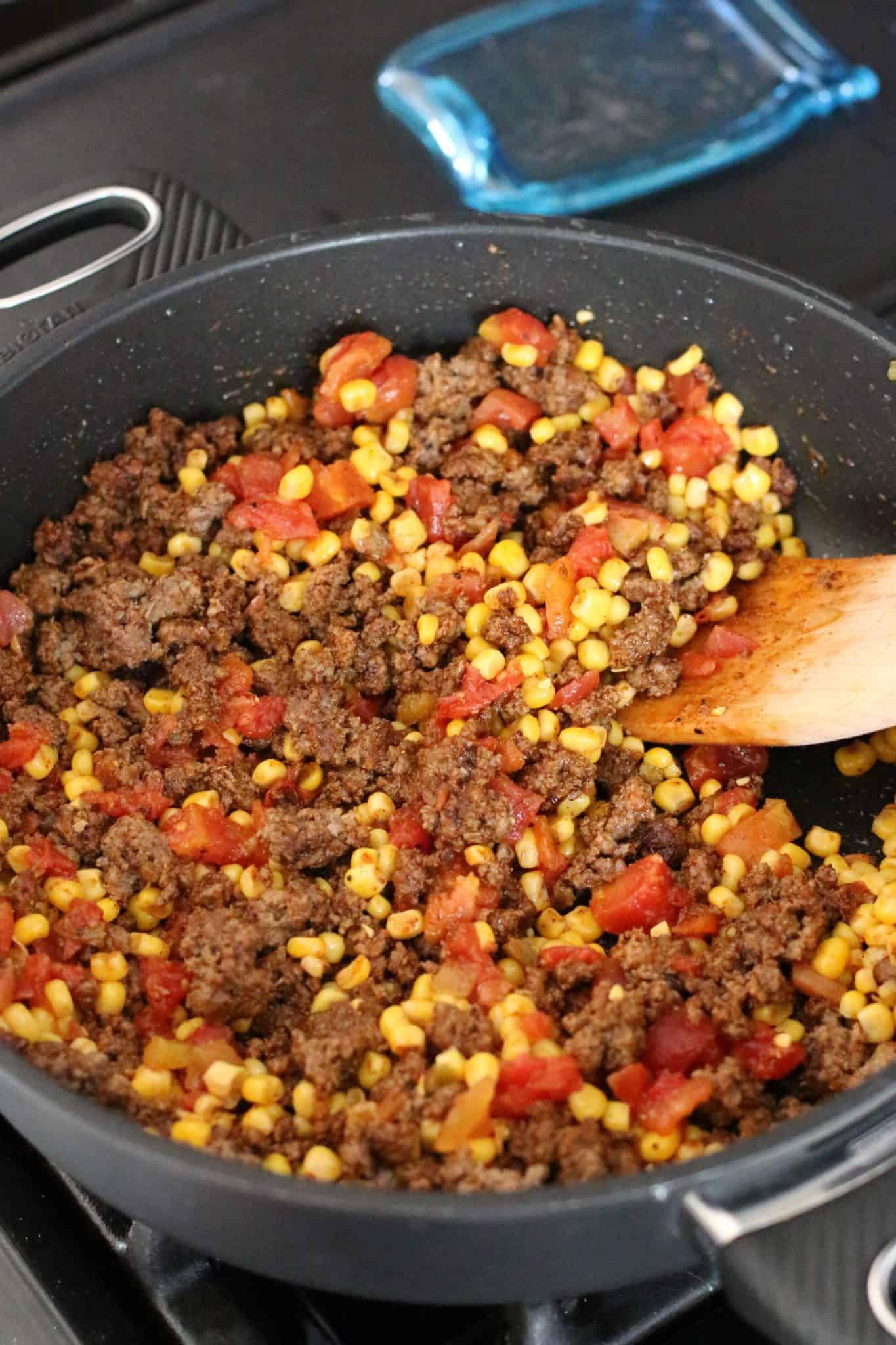 Taco Cornbread Casserole  taco bake with cornbread