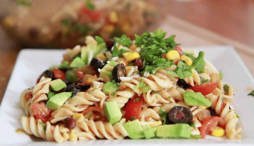 Taco Pasta Salad  Taco Pasta Salad Recipe Light refreshing easy