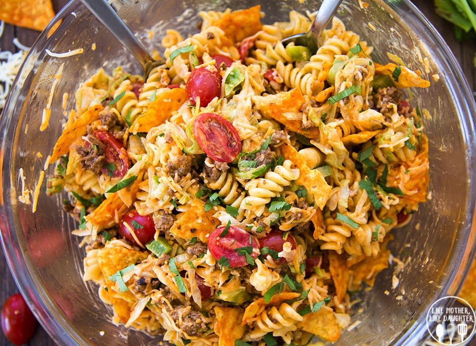 Taco Pasta Salad  Taco Pasta Salad – Like Mother Like Daughter