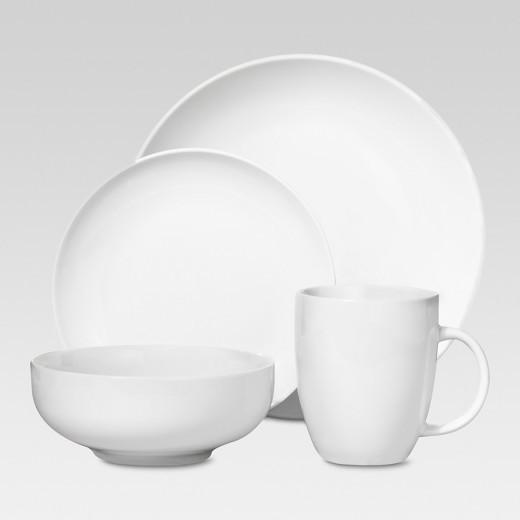 Target Dinner Sets  Porcelain 16pc Coupe Dinnerware Set White Threshold Tar