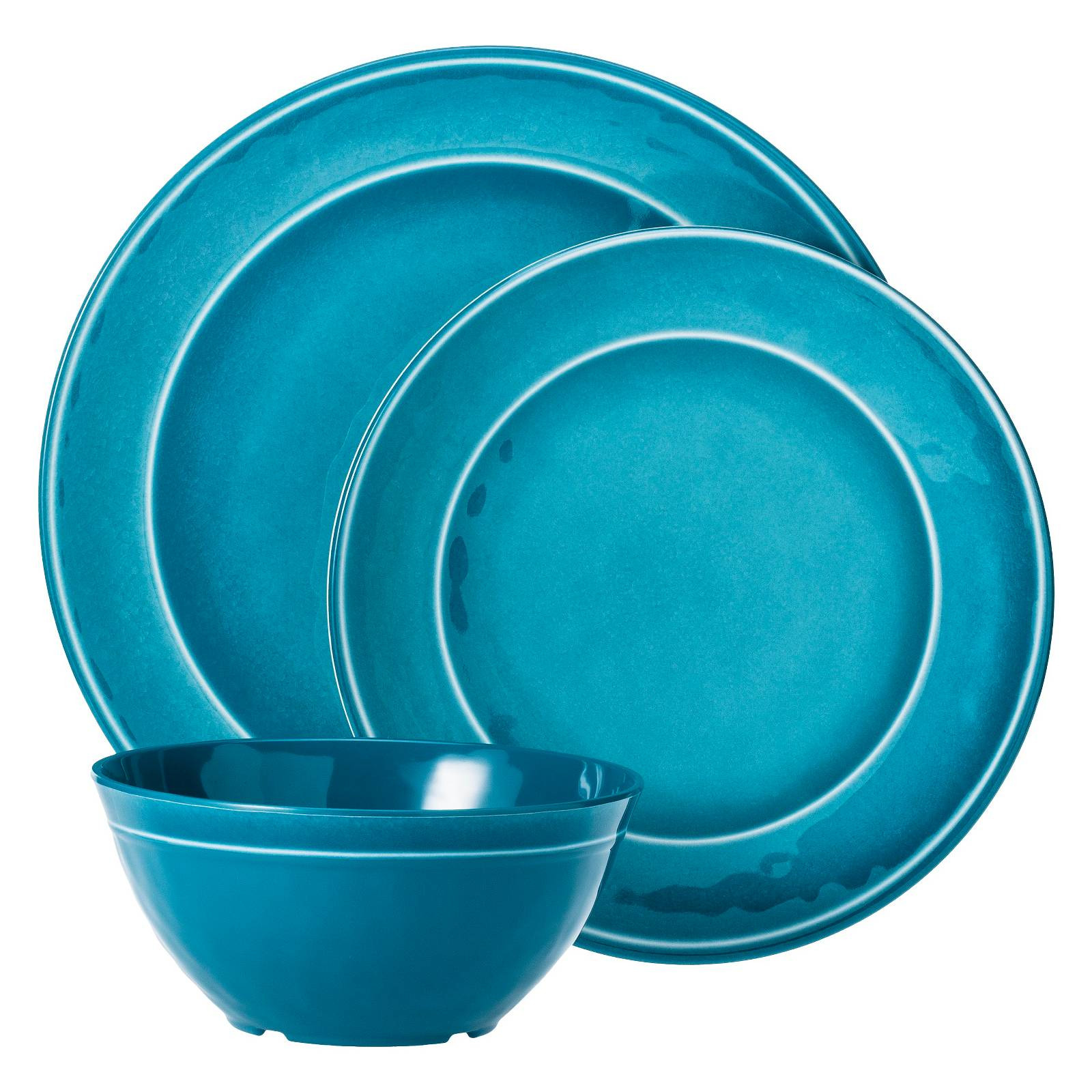 Target Dinner Sets  Melamine 12pc Dinnerware Set Threshold